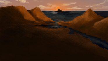 Speed painting sur le thème de la plaine crépusulaire